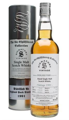 Signatory Single Malt Scotch Highland Park 1991